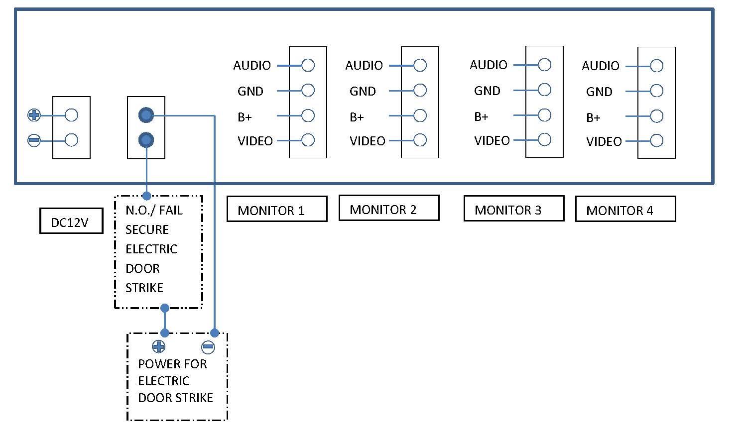 4-Apartment Video Intercom Door Camera BCVD-04AL - ULTIMA-TECH