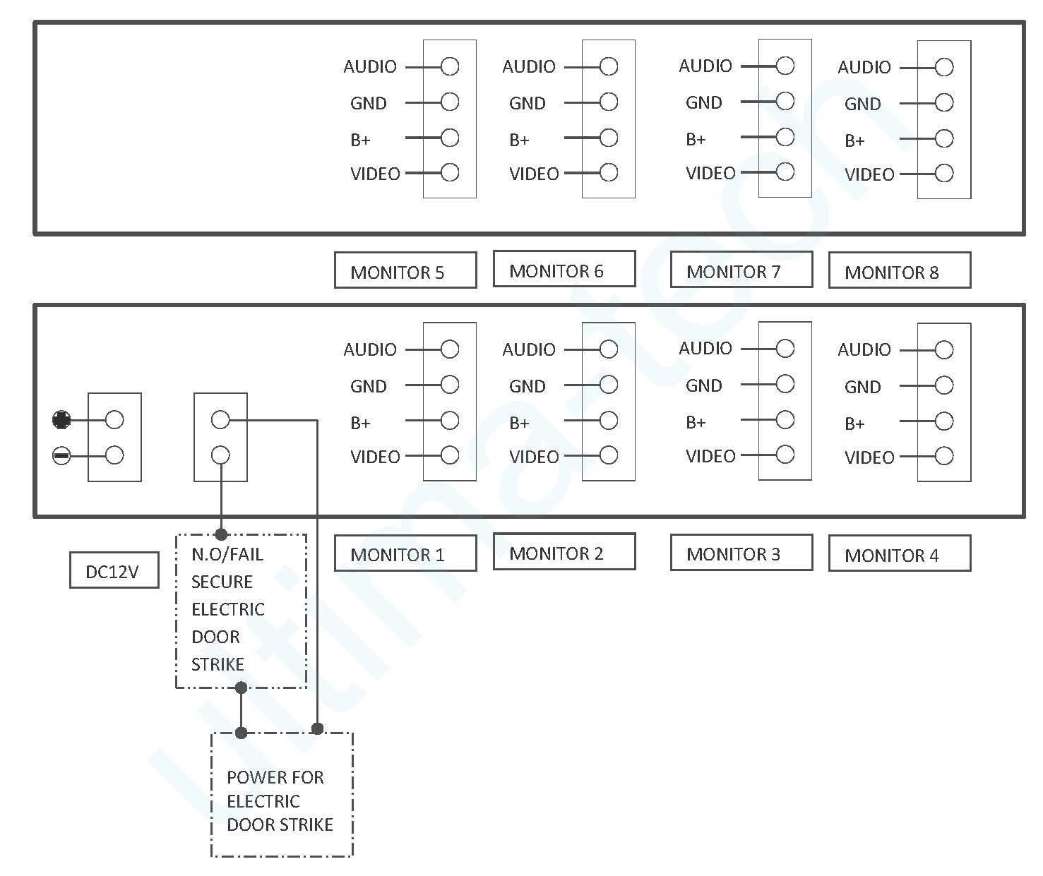 8 Apartment Video Intercom Door Camera Bcvd 08al Ultima Tech Wiring Diagram