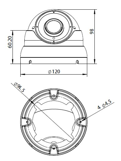 HD4-2DO2812 Dimensions